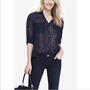 Express lace shirt sz xs fit small too nwot